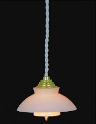 hanging lamp with white shade