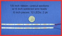 "LED Warm White Ribbons 6"" (2 pack)"