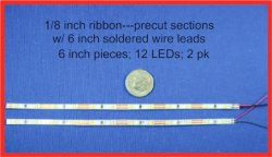 "LED Pure White Ribbon 6"" (2 pack)"
