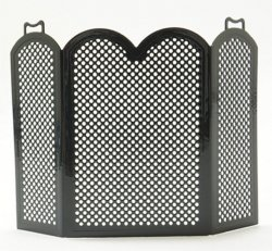 Black Fireplace Screen