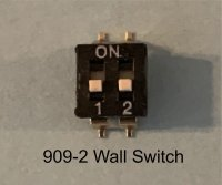 double miniature wall switch (pk 5)