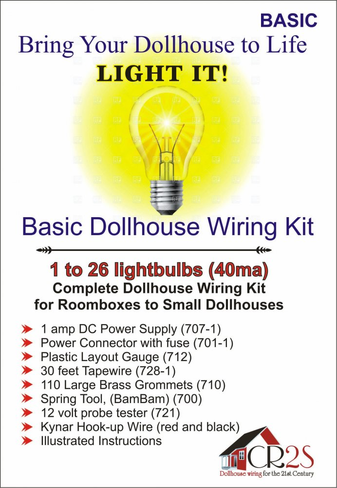 Basic Complete Dollhouse Wiring Kit - Click Image to Close
