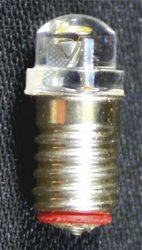 Screw-base Peabulb 3 volt LED (10 pk)