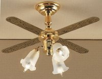 3 Arm Tulip Light Ceiling Fan