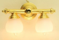 Brass Double Wall Lamp