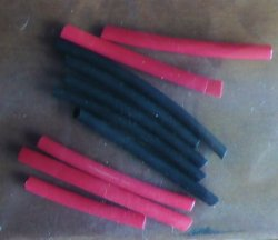 "3/32"" red/black shrink tube"