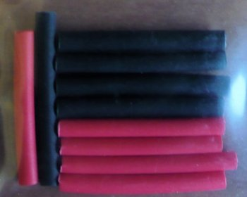 1/16 red/black shrink tube