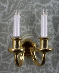 double candle stick sconce